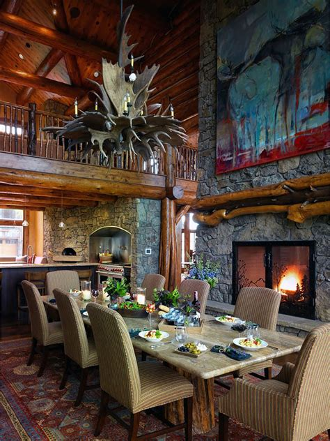majestic rustic dining room designs