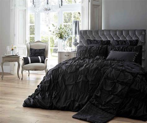 And Black Duvet Set by Alexandra Duvet Quilt Bedding Set Black Linens Range