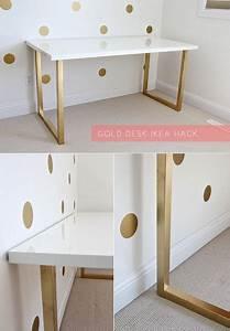 Table 12 Personnes Ikea : gold desk ikea hack doce lar ideias ikea decora o escrit rio e id ias de decora o para casa ~ Nature-et-papiers.com Idées de Décoration