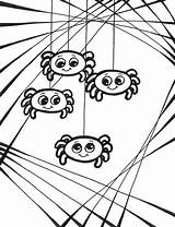 Spider Coloring Pages Printable Web Halloween Spiders Wolf Baby Cute Charlotte Sheets Scary Drawings Colouring Looking Printables Anansi Cartoon Animal sketch template