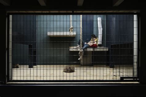 thought provoking  show humans locked  cages