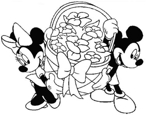 fotocopie disney disegni di pasqua dei personaggi disney da colorare