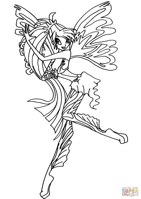 Kleurplaat Winx Bloom by Coloriage Sirenix Bloom Coloriages 224 Imprimer Gratuits