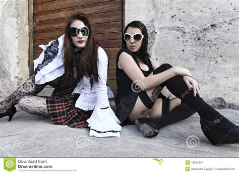 girls punk portrait royalty  stock photography