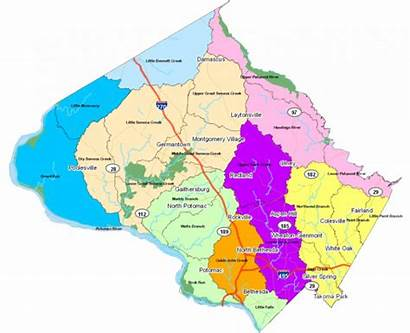 Montgomery County Watersheds Maryland Map Watershed Water