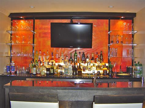 Bar Wall Shelves by Bar Glass Shelving Basement Ideas Bar Shelves Bars