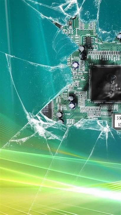 Cracked Broken Iphone Screen Windows Wallpapers Vista