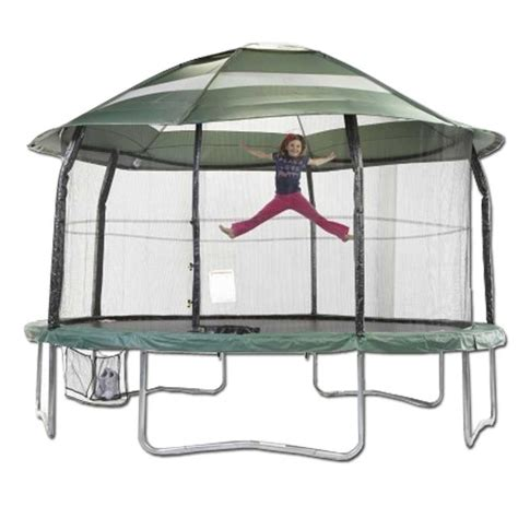 Trampoline tent cover 15 ft clubhouse 15 ft Round Trampoline Cover for Elite JumpPOD   Backyard trampoline, Trampoline accessories ...