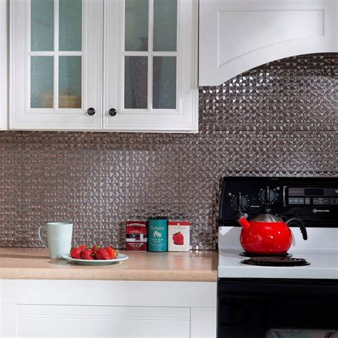 decorative kitchen backsplash fasade 24 in x 18 in terrain pvc decorative tile