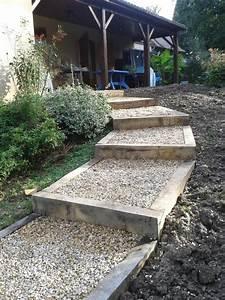 amenagement de gradines jardin en pente sloping garden With amenagement entree exterieure maison 5 realisations bretaudeau paysagiste