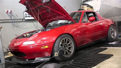 mazda miata turbo whp dyno youtube