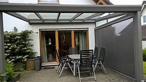 terrassendach mit qualit t aluminium With terrassenüberdachung sichtschutz