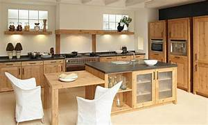 Cuisine bois for Cuisine moderne en bois massif