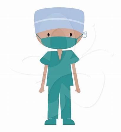 Scrubs Clipart Doctor Medical Clip Surgeon Nurse