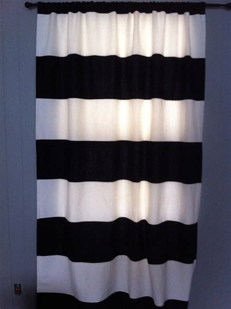 black and white horizontal striped curtains furniture