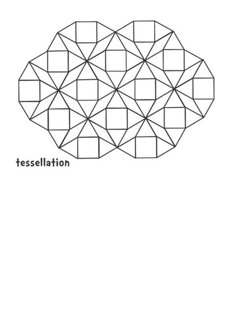 tessellation black  white pattern block template