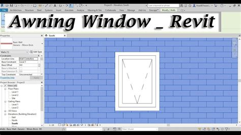 revit window  awning window family youtube