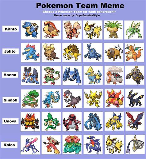 Pokemon Team Memes - pokemon platinum team images pokemon images