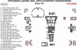 Mitsubishi Lancer 2006 Basic Interior Dash Kit  With