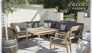 Loungemöbel Holz Outdoor : outdoor loungem bel kent komplettset mit tisch ~ Indierocktalk.com Haus und Dekorationen