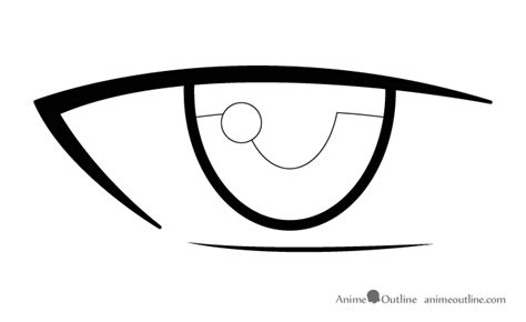 Anime Eye Reflection How To Draw Anime Anime Outline