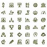 Icons Busy Business Drawn Hand Vector Office