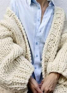 Gilet Laine Homme Grosse Maille : gilet femme en laine grosse maille cardigan laine merinos ~ Melissatoandfro.com Idées de Décoration