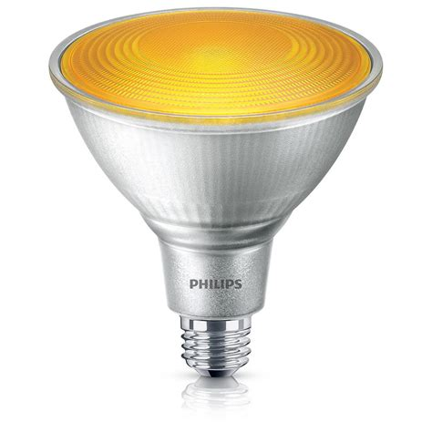 philips 90w equivalent par38 yellow led flood light bulb