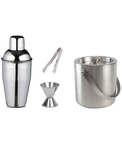 dynamic store stainless steel kitchen dynamic store stainless steel mirror finish bar set of 4