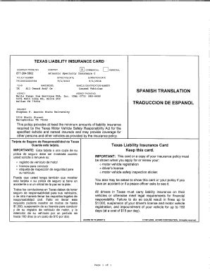home owners insurance in michigan insurance card template fill printable