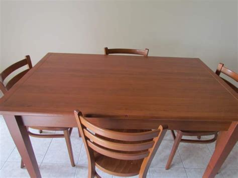 tavoli torino tavolo allungabile color ciliegio con 4 sedie a torino
