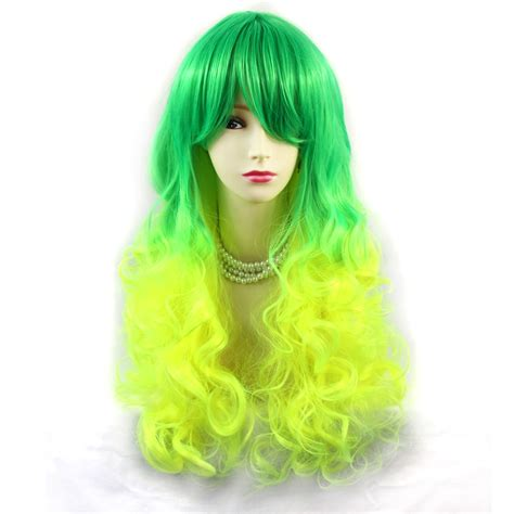 Wiwigs Wiwigs Romantic Long Curly Wig Green And Light