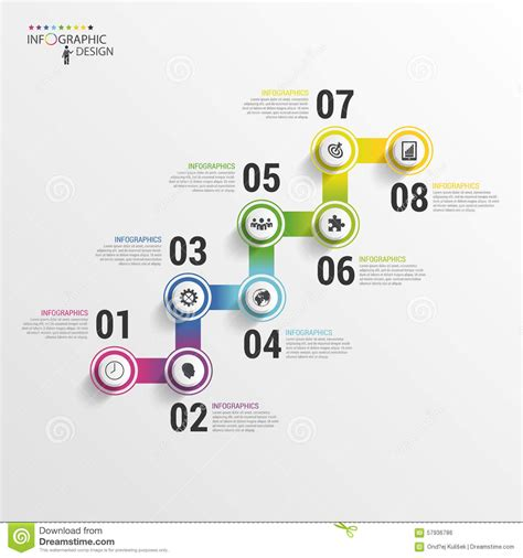 modern business stair steps to success infographic design