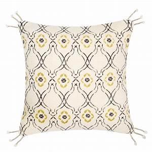 Housse De Coussin 40x40 Maison Du Monde : housse de coussin beige motifs 40x40 maisons du monde ~ Melissatoandfro.com Idées de Décoration