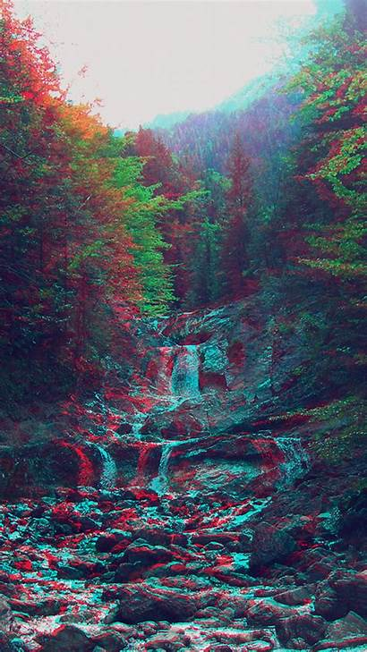 Iphone Trippy Nature Plus Mountain Anaglyph