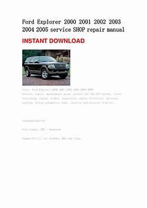 Ford Explorer 2000 2001 2002 2003 2004 2005 Repair Manual
