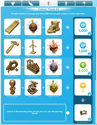 sims freeplay quests  tips hobbies woodworking