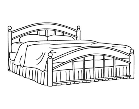 Full-size Bed Coloring Page