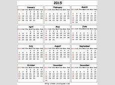 2015 Calendar printable Calendar 2015 Calendar in