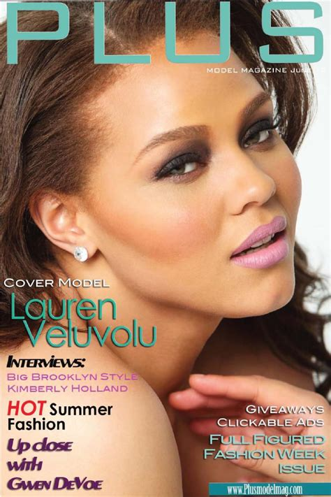 model magazine june   size supermodel issue featuring lauren veluvolu