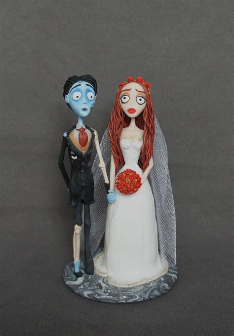 corpse bride wedding cake topper corpse groom handmade