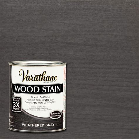 Varathane 1 qt. 3X Weathered Gray Premium Wood Stain (Case