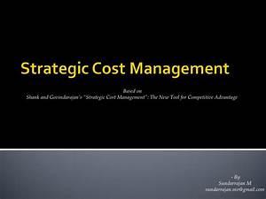 Slideshare In Strategic Cost Management