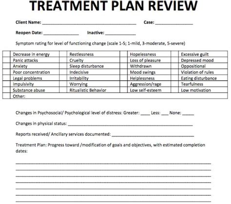 treatment plan template for counseling 17 best free counseling note templates images on notes template models and