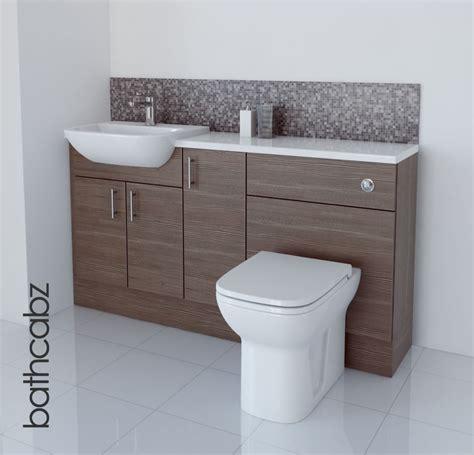 bathroom modern vanities grey brown bathroom fitted furniture 1500mm ebay