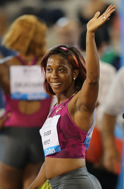 Running in an empty stadium in kingston at the joa/jaaa's destiny series, she decimated the field in the first of three heats from a rocket start, to finish ahead of former world championship finalist natasha morrison. Shelly-Ann Fraser-Pryce in IAAF Diamond League - Zimbio