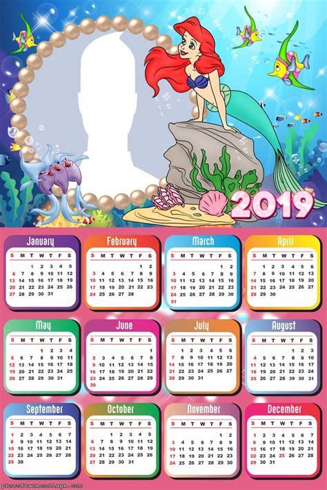 ariel  mermaid calendar  photo frame collage
