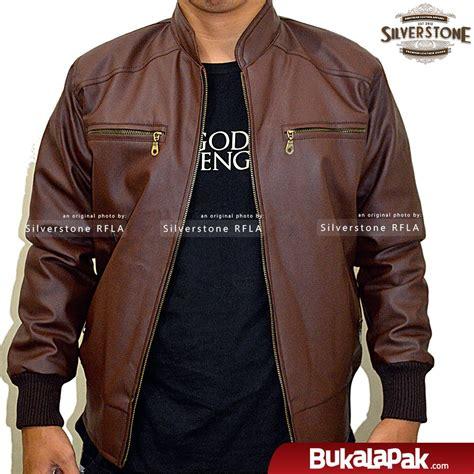 jual jaket kulit pria elegant brownie arl