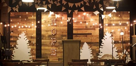 christmas walls church stage design ideas