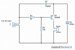 Power Failure Alarm Circuit Without Individual Power Supply